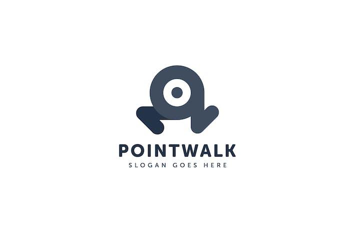 Thumbnail for Point Walk Logo Vector Template