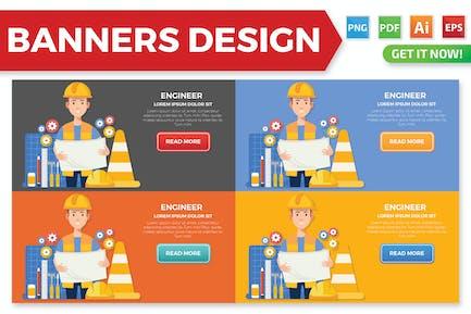 Design von Engineer Bannern