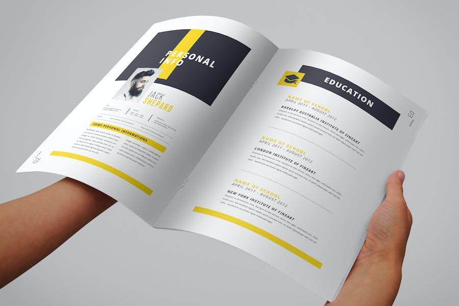 Lebenslauf-Booklet (8 Seiten)
