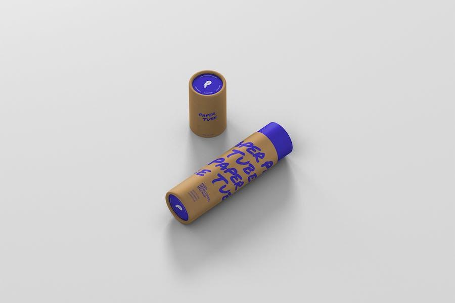 Paper Tube Mockup - Slim Medium Size