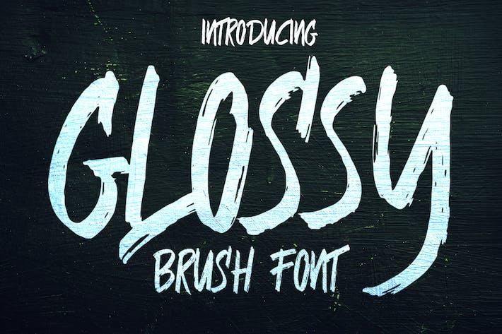 Thumbnail for Glossy Brush Font