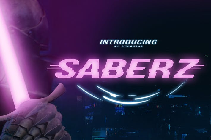 Thumbnail for Saberz Font