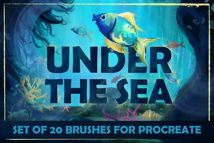Thumbnail for Under The Sea: Procreate Brushes