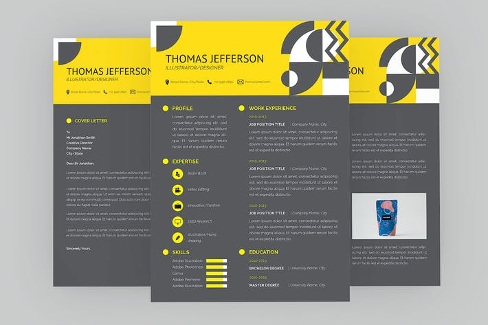 Thumbnail for Thomas Illustrator Resume Designer