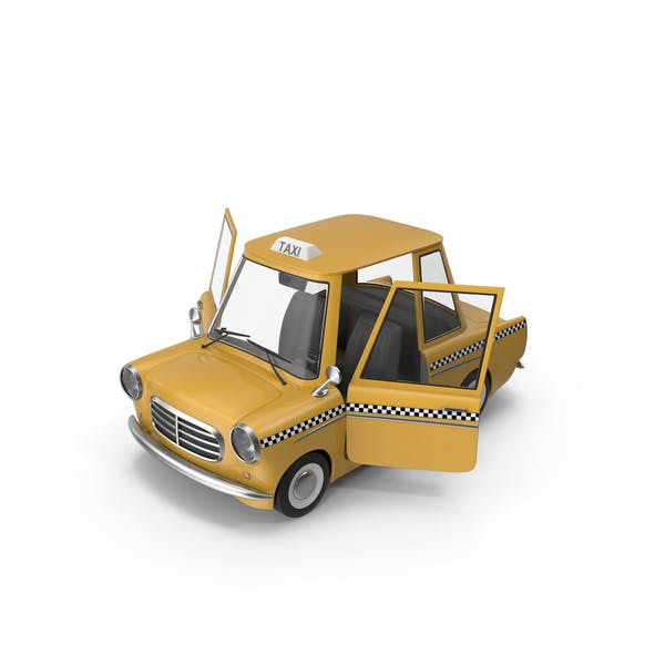 Cartoon Taxi Open Doors