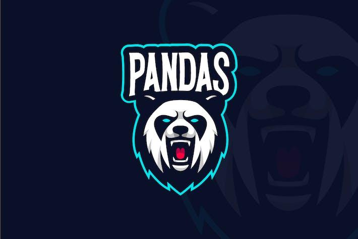 Thumbnail for Angry Panda Mascot Logo