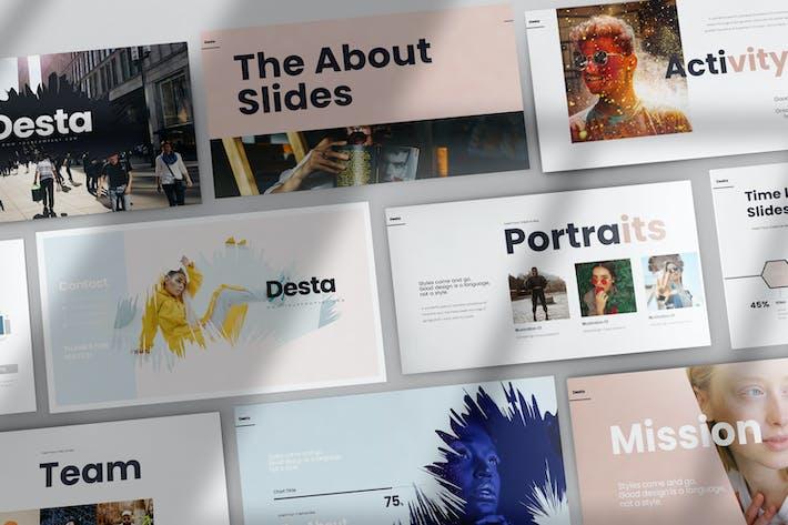 Thumbnail for Desta Google Slides