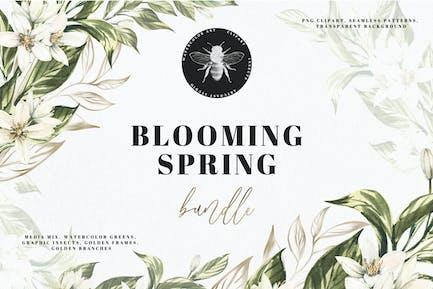Watercolor Blooming Spring