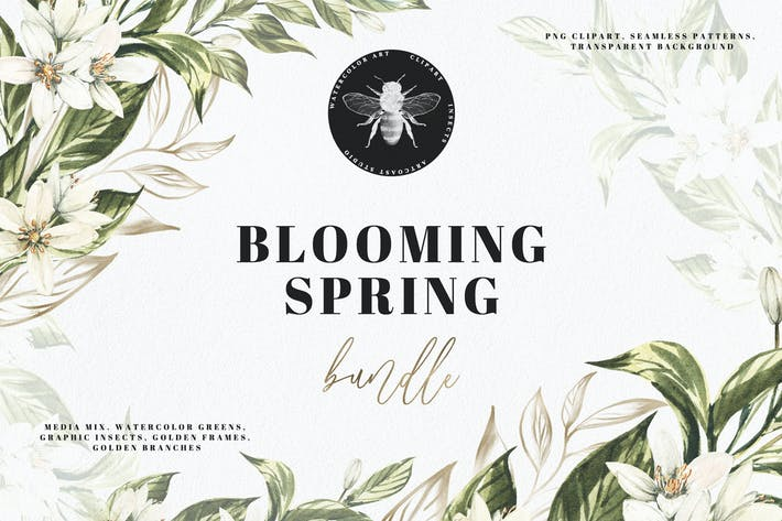 Thumbnail for Watercolor Blooming Spring