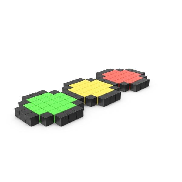 Icono de semáforo pixelado