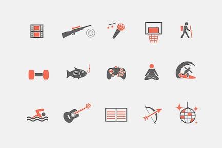 15 Hobby Icons
