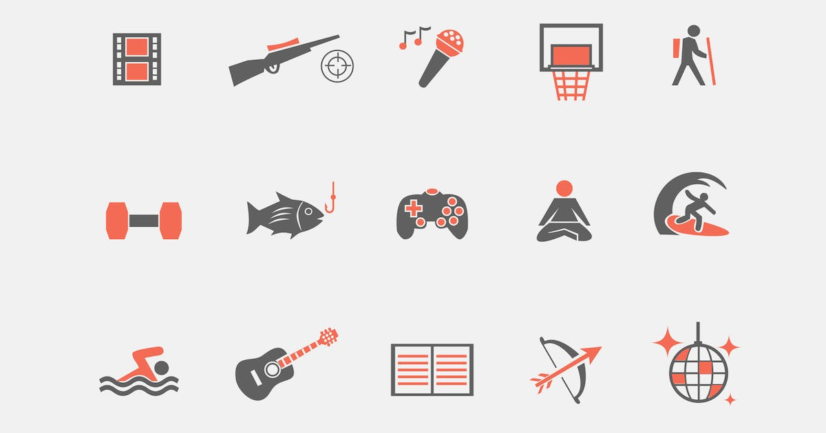 Download 15 Hobby Icons by creativevip
