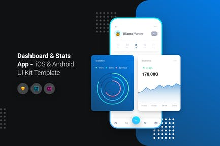 Dashboard App iOS & Android UI Kit Template