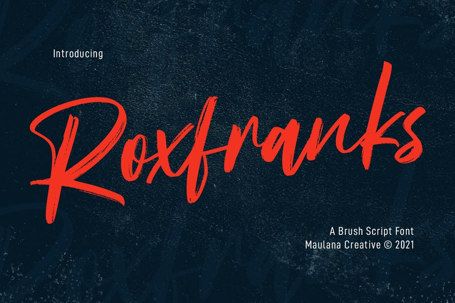 Roxfranks Brush Script Font