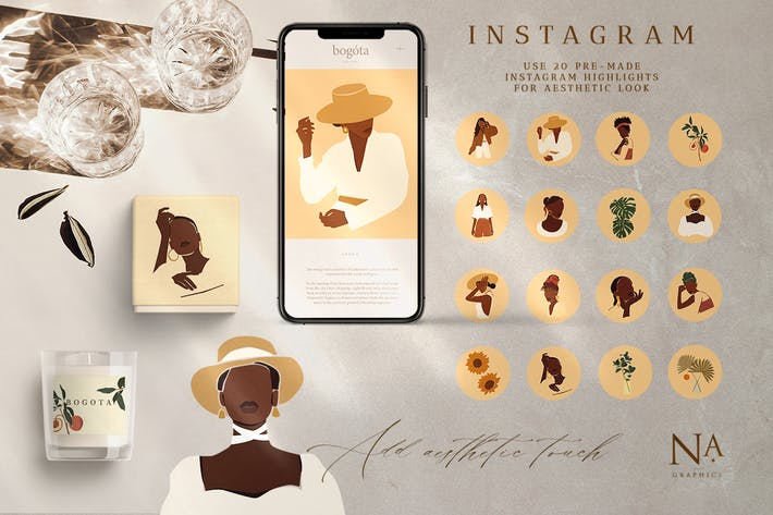 Thumbnail for Abstract Woman Instagram Highlight Template