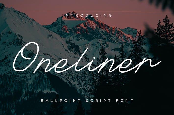 Thumbnail for Oneliner - Ballpoint Script Font