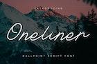 Oneliner - Ballpoint Script Font