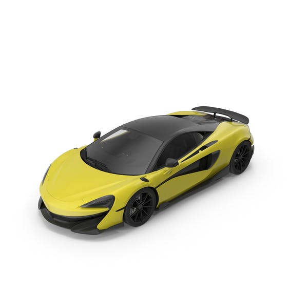 Sports Car 01 Yellow