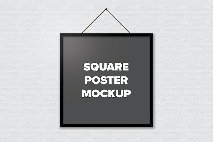 Thumbnail for Poster Frame Mockups - Square