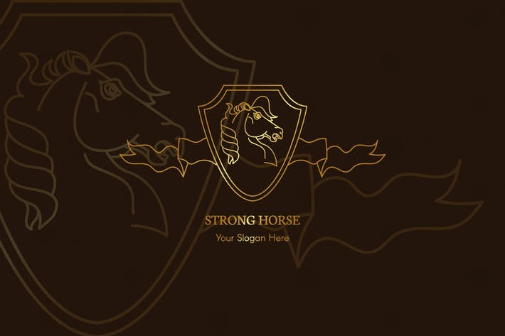 Thumbnail for Strong Horse Logo Template