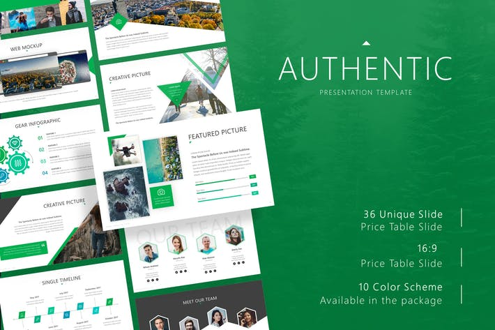 Thumbnail for Authentic Presentation Template