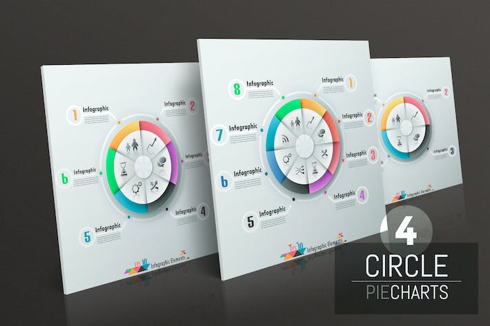 Thumbnail for 4 Circle Pie Charts