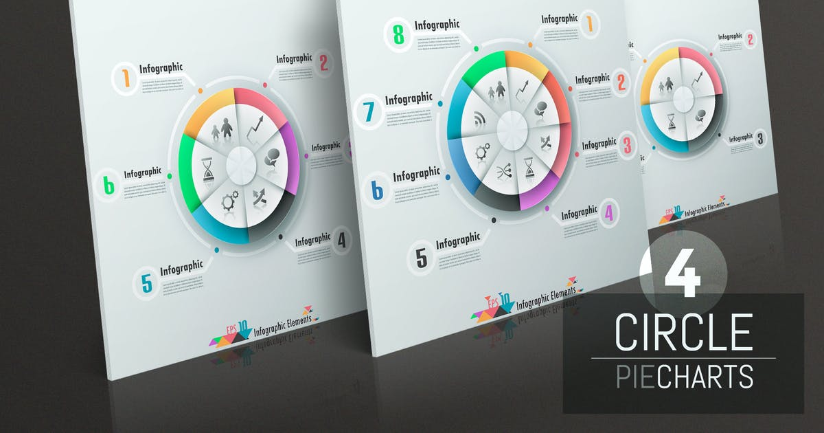Download 4 Circle Pie Charts by Andrew_Kras