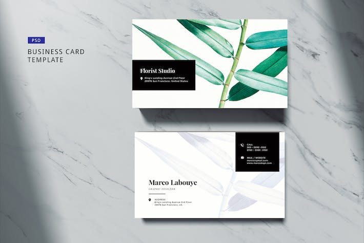 Thumbnail for Elegant Business Card Template #02