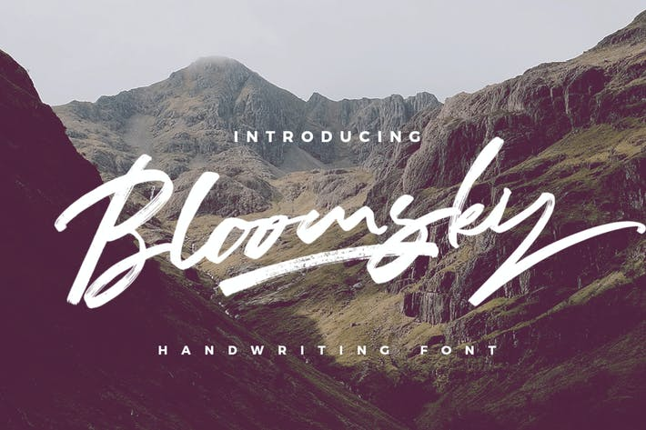 Thumbnail for Bloomsky - Pincel Logotipo Signature