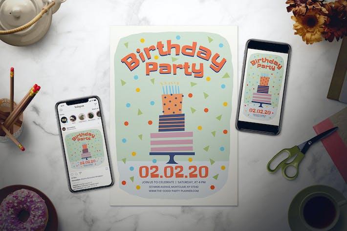 Thumbnail for Ensemble de dépliant pour fête d'anniversaire pour enfants