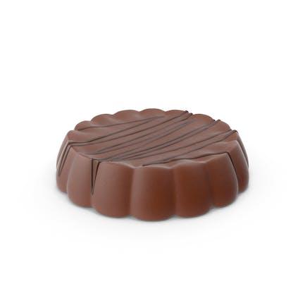 Disk-Schokolade mit Schokoladen-Linien-Pops