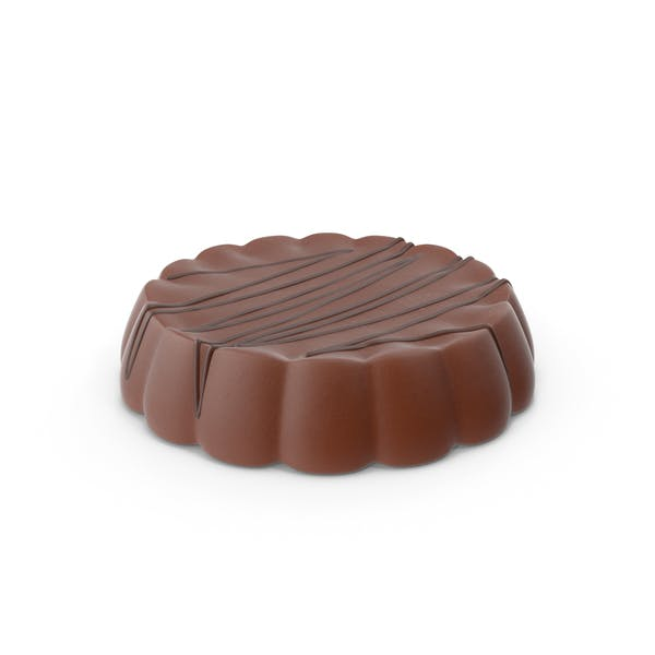 Disk Chocolate With Chocolate Line Pops
