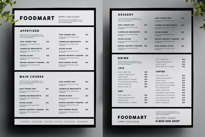 modern restaurant food menu by vynetta on envato elements