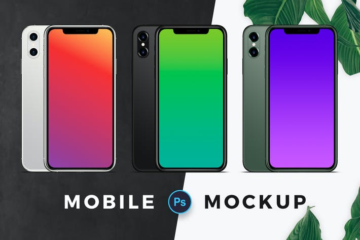 Thumbnail for Three Color Mobile Mockup
