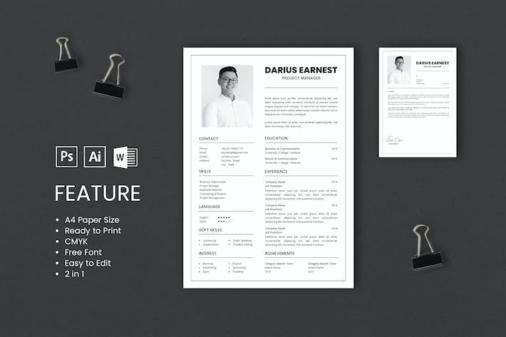 Thumbnail for Professional CV And Resume Template Darius