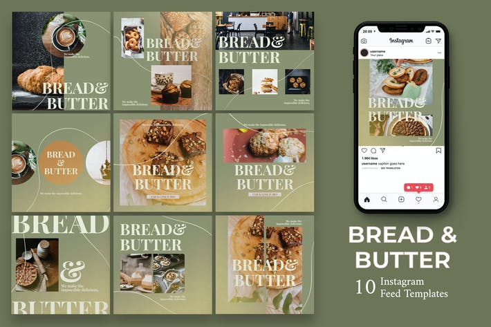Thumbnail for Bread And Butter - Food  Instagram Post