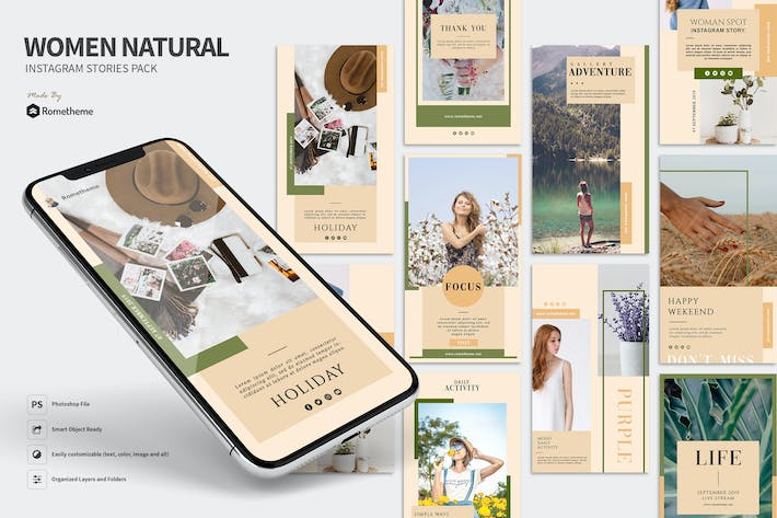 Thumbnail for Women Natural - Instagram Stories Pack