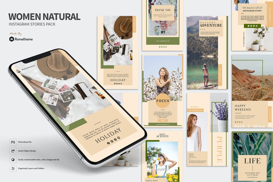 Woman Natural - Instagram Stories Pack