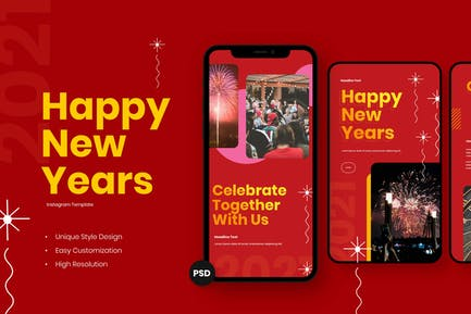 Celebrate New Year Instagram Story Template