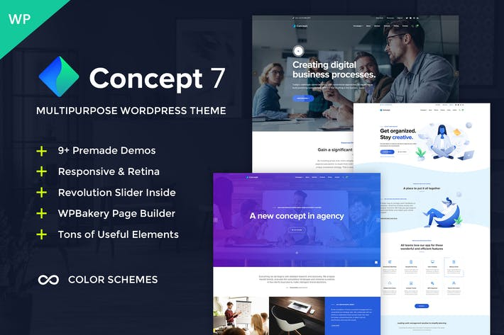 Thumbnail for Concept Seven - Multipurpose WordPress Theme