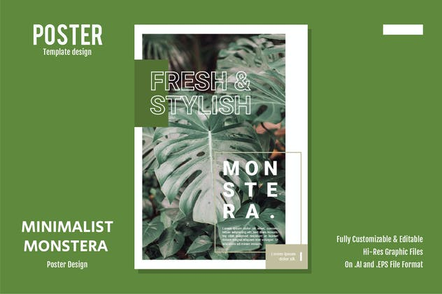Minimalist Monstera - product preview 0