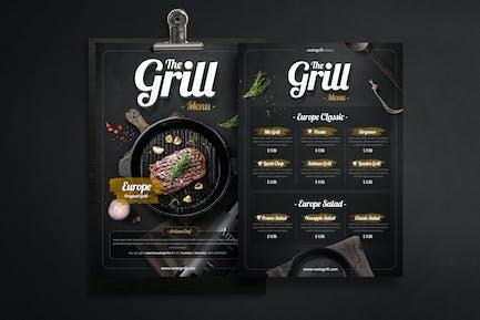 Grillmenü - Flyer