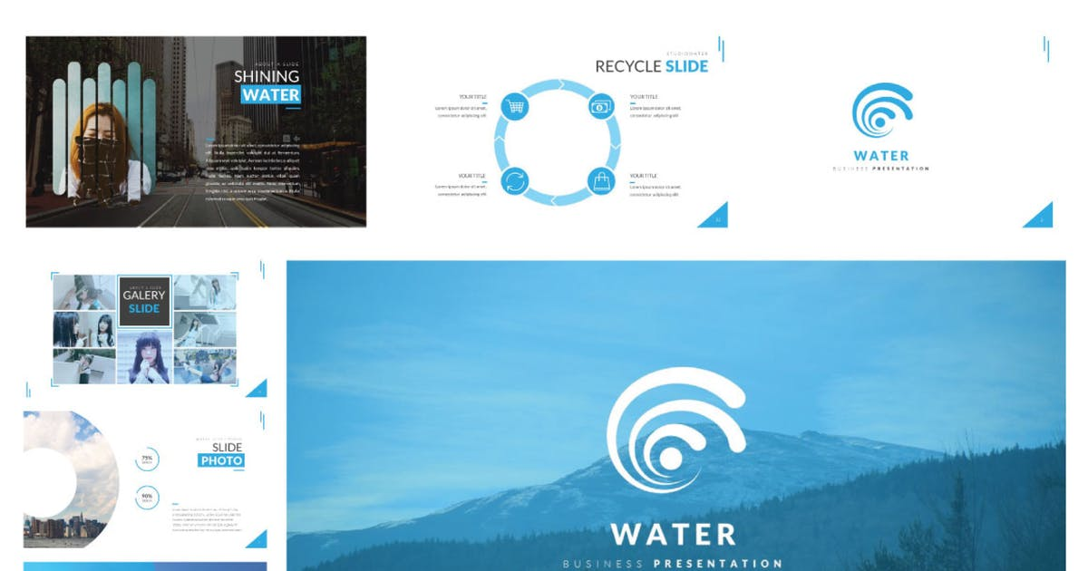 Download Water Business Keynote by templatehere