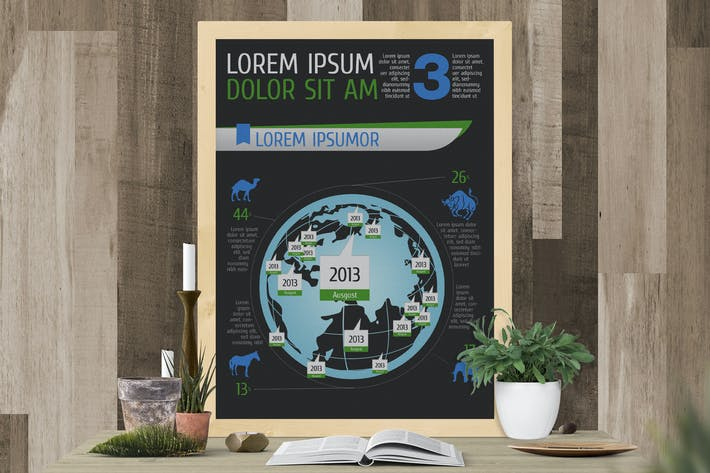 Infographics Template – Vector Icons