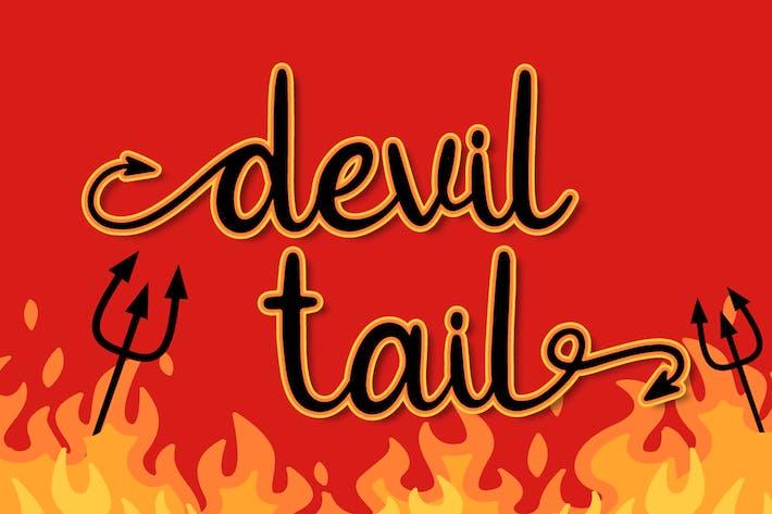 Thumbnail for Devil Tail - Halloween Font