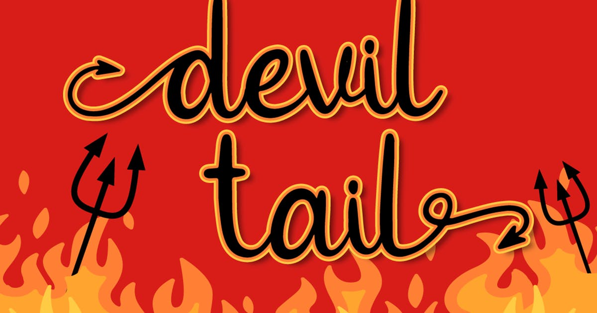 Download Devil Tail - Halloween Font by Attype-Studio