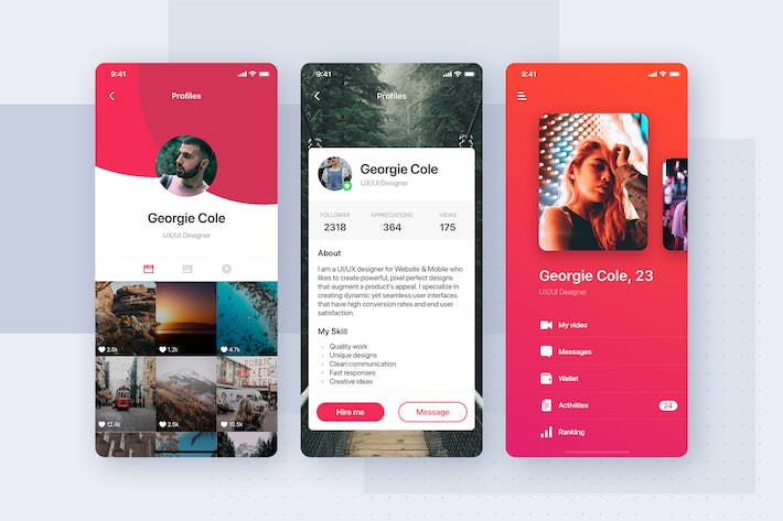 Thumbnail for User Profile Mobile App Template