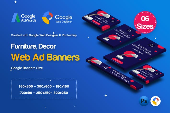 Cover Image For C70 - Furniture, Decor Banners GWD & PSD