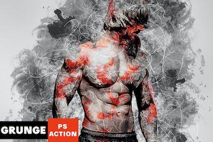 Wildness - Grunge Photoshop Action