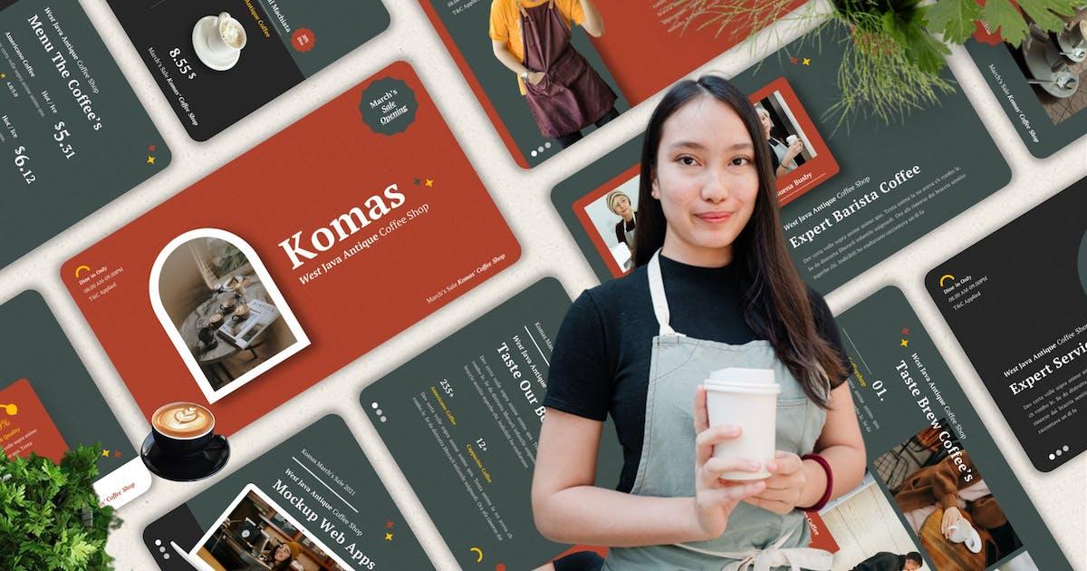Download Komas - Coffee Shop Powerpoint Template by Yumnacreative